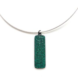 emerald dog tag